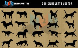 Dogs Silhouette SVG and PNG Cut files.