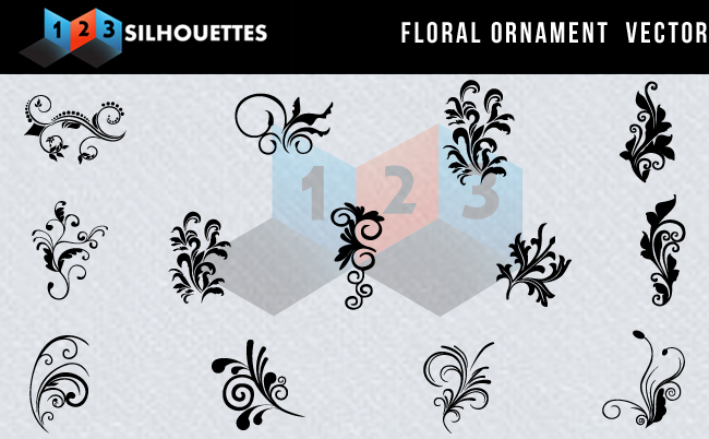 Floral Ornament Silhouettes