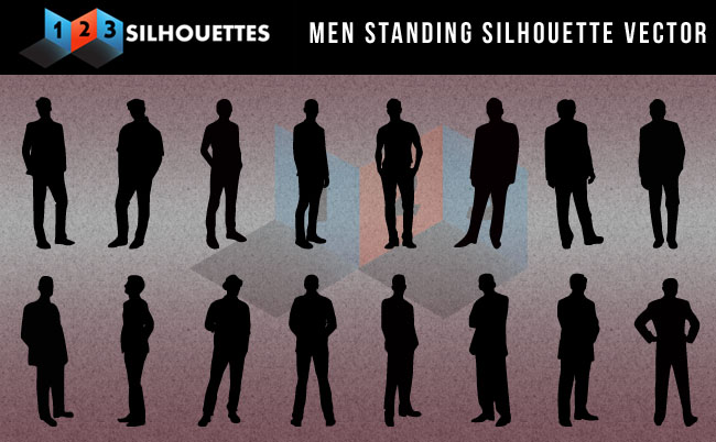 Man Standing Silhouettes