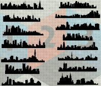 City silhouette vector les