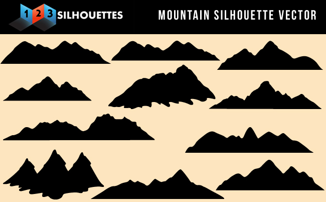 Mountain Silhouette beautiful mountain vector silhouette nature gallery downloadvector