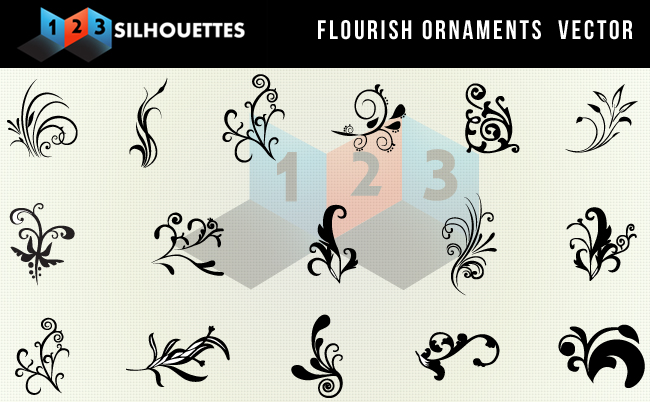 Vector Flourish Ornaments