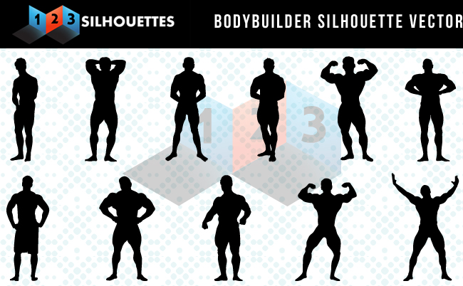 Body builder Silhouettes