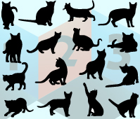 cat silhouette vector les