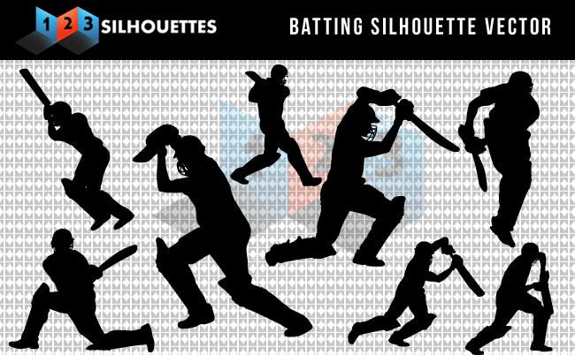 Cricket Bating Silhouette