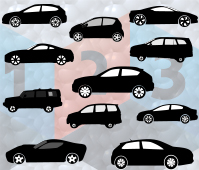 Car Silhouette Vector Graphics LES