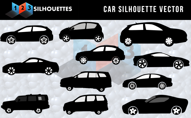 Car Silhouette Vector Graphics