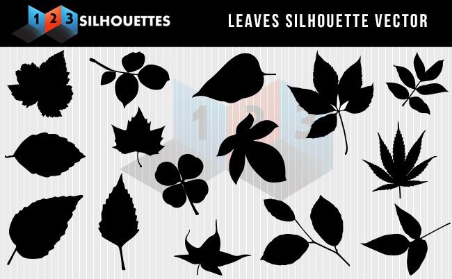 Leaves Silhouette Vector Clipart