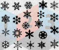 Snowflake Silhouette Vector Graphics LES