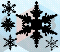 Snowflake Silhouette Vector Graphics LES1