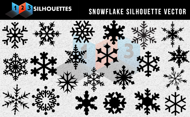 Snowflake Silhouette Vector Graphics