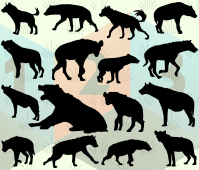 Hyena silhouette vector les