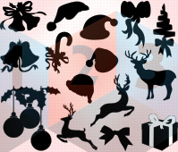 christmas Silhouette Vector les