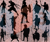 Ancient Warriors silhouette les