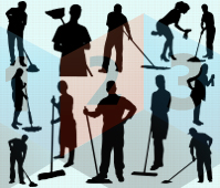 cleaning services silhouette vector les
