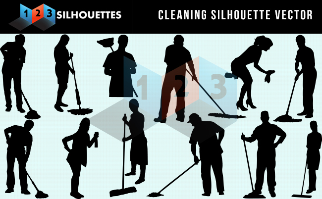 Cleaning Services Silhouette Vector